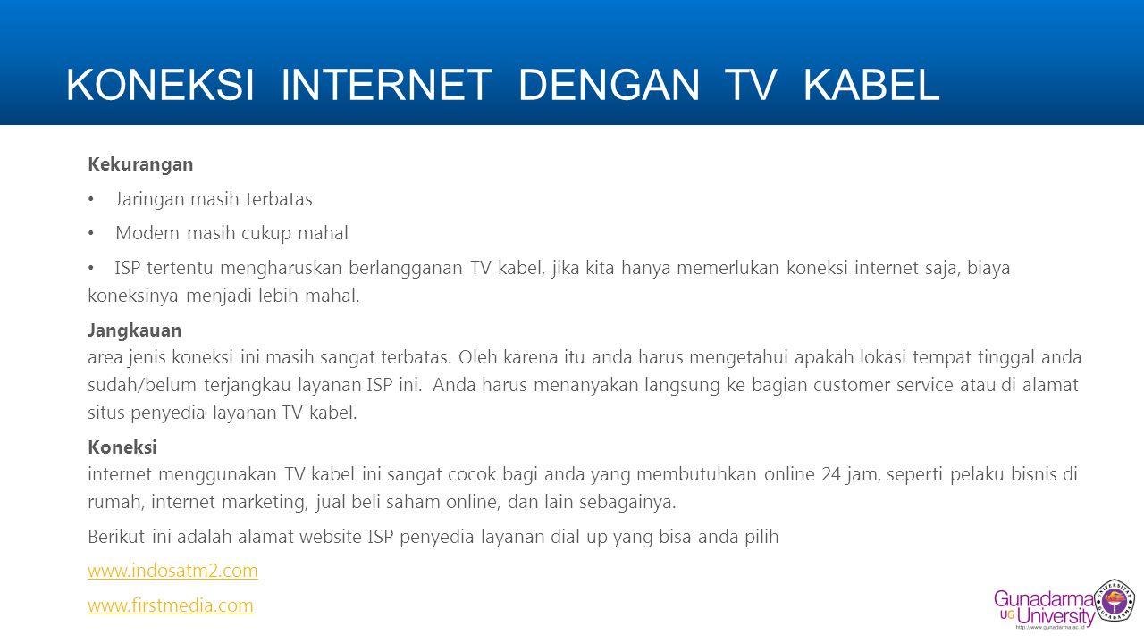 KONEKSI INTERNET DENGAN TV KABEL