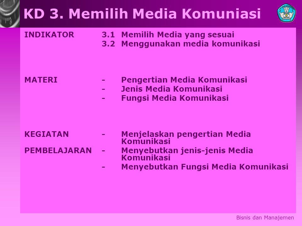 KD 3. Memilih Media Komuniasi