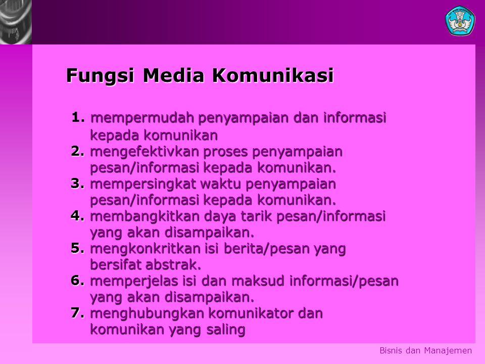 Fungsi Media Komunikasi 1. mempermudah penyampaian dan informasi