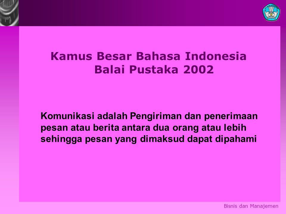 Kamus Besar Bahasa Indonesia Balai Pustaka 2002