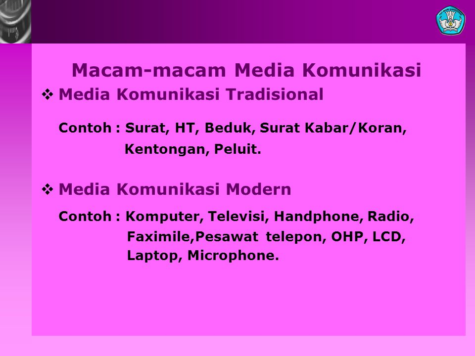 Macam-macam Media Komunikasi