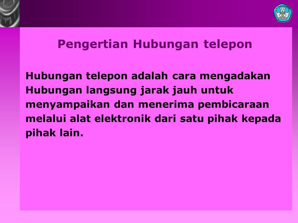 Pengertian Hubungan telepon
