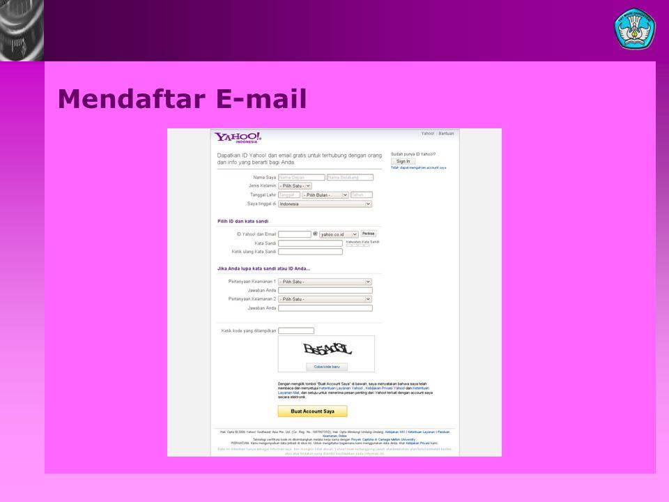 Mendaftar E-mail