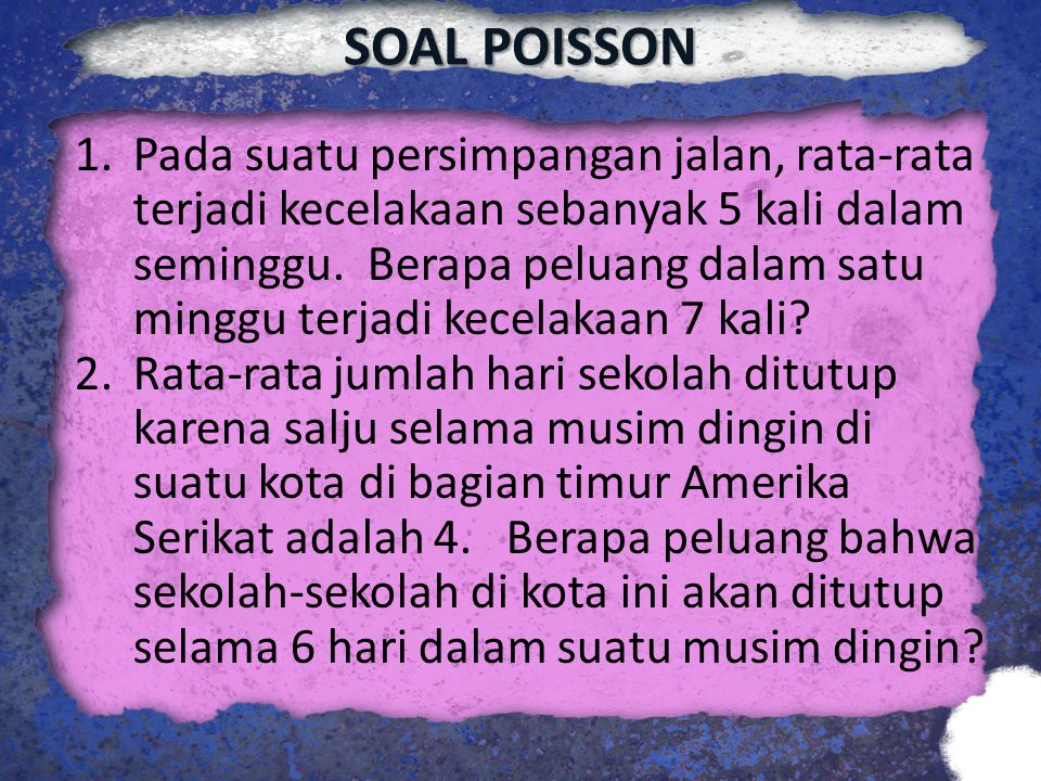 SOAL POISSON