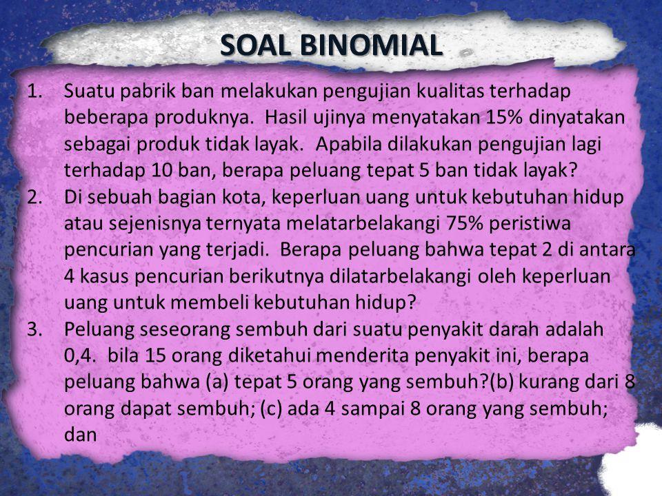 SOAL BINOMIAL