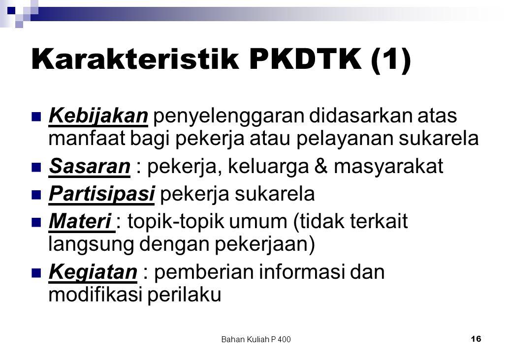 Karakteristik PKDTK (1)