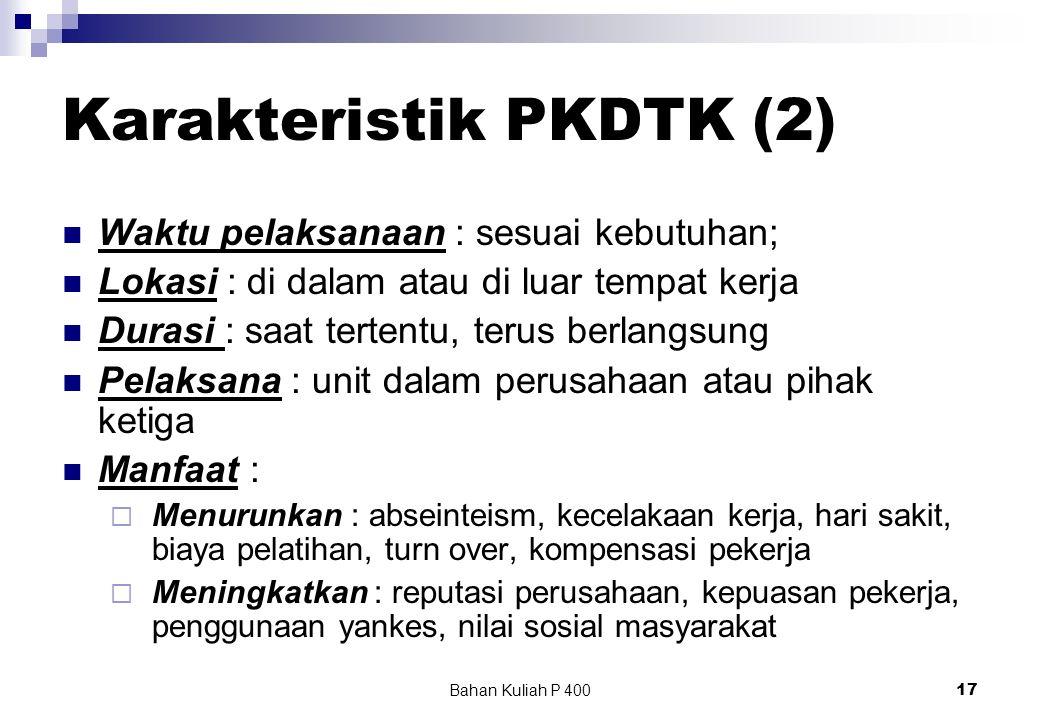Karakteristik PKDTK (2)