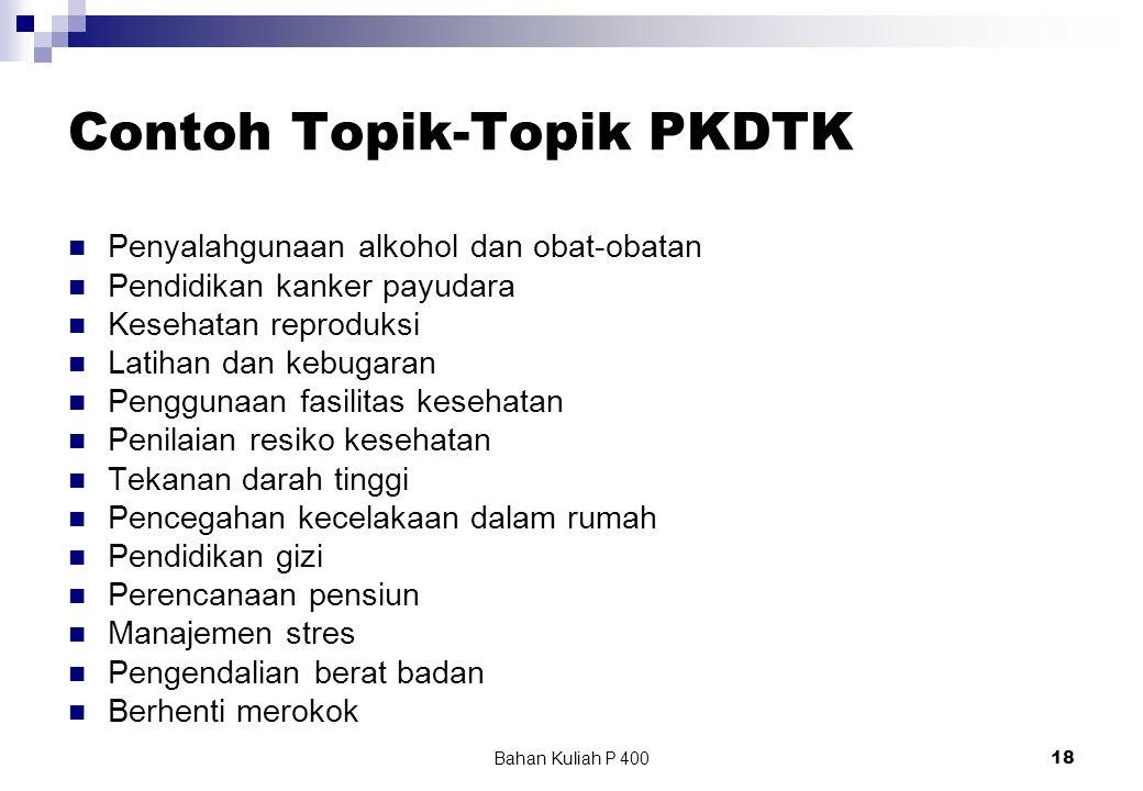 Contoh Topik-Topik PKDTK