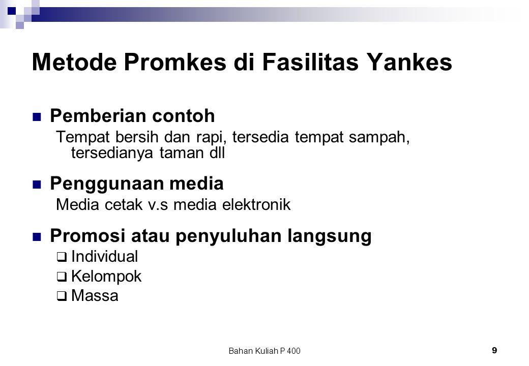 Metode Promkes di Fasilitas Yankes