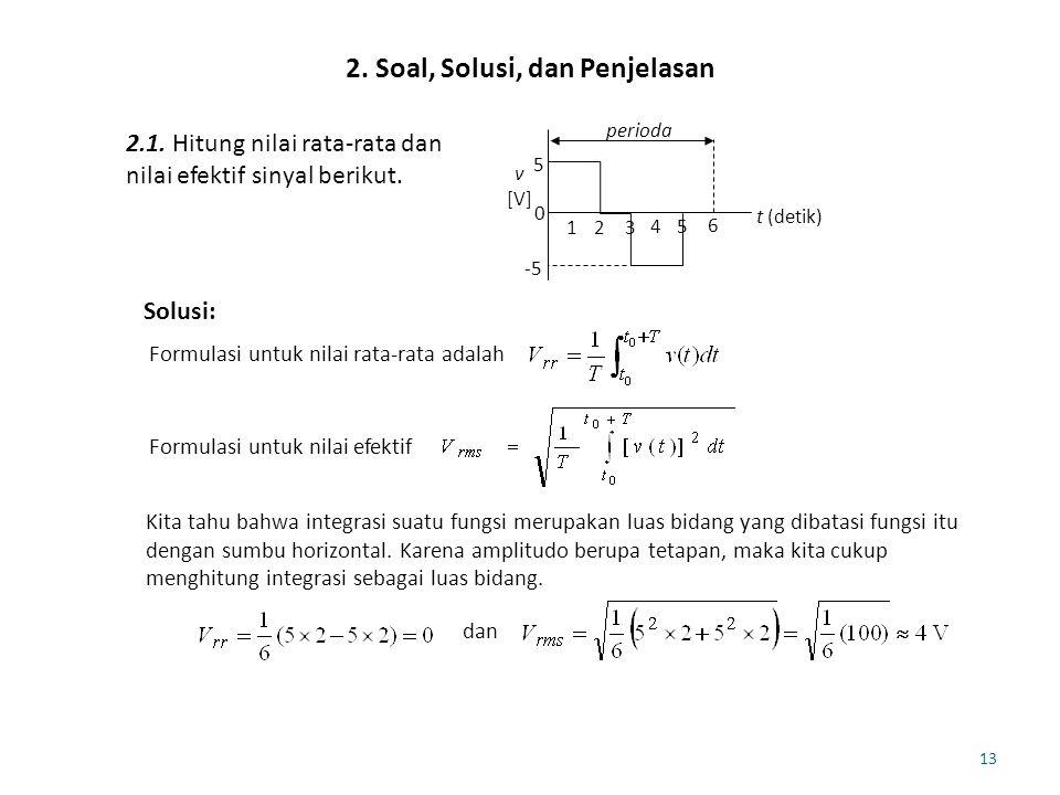 2. Soal, Solusi, dan Penjelasan