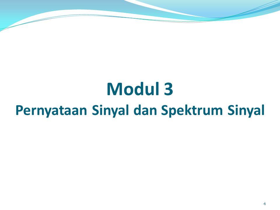 Modul 3 Pernyataan Sinyal dan Spektrum Sinyal