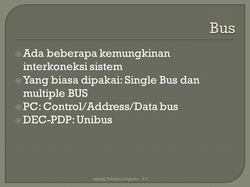 Bus Ada beberapa kemungkinan interkoneksi sistem