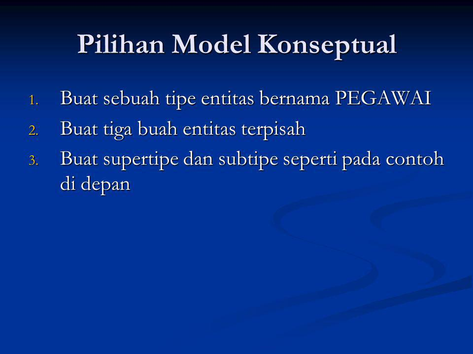 Pilihan Model Konseptual