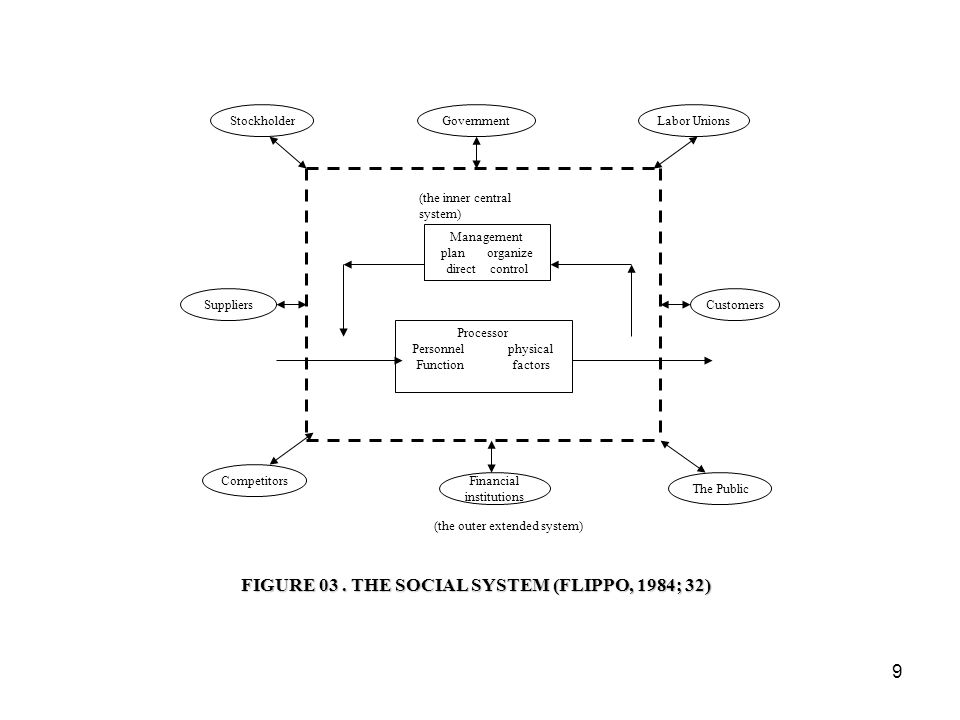 FIGURE 03 . THE SOCIAL SYSTEM (FLIPPO, 1984; 32)