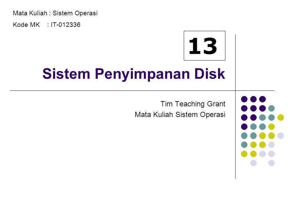 Sistem Penyimpanan Disk