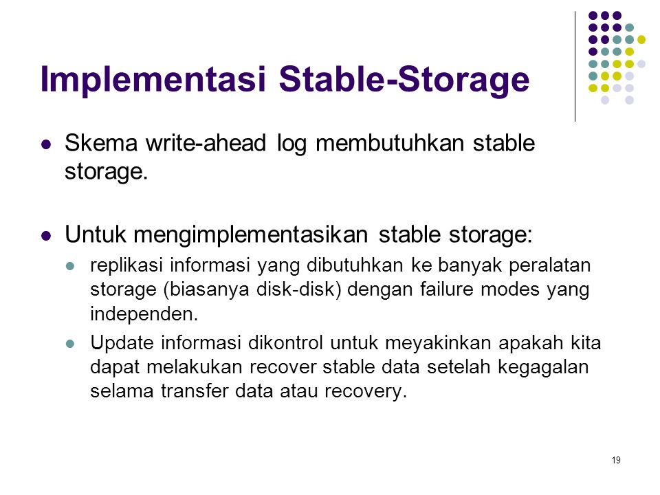 Implementasi Stable-Storage