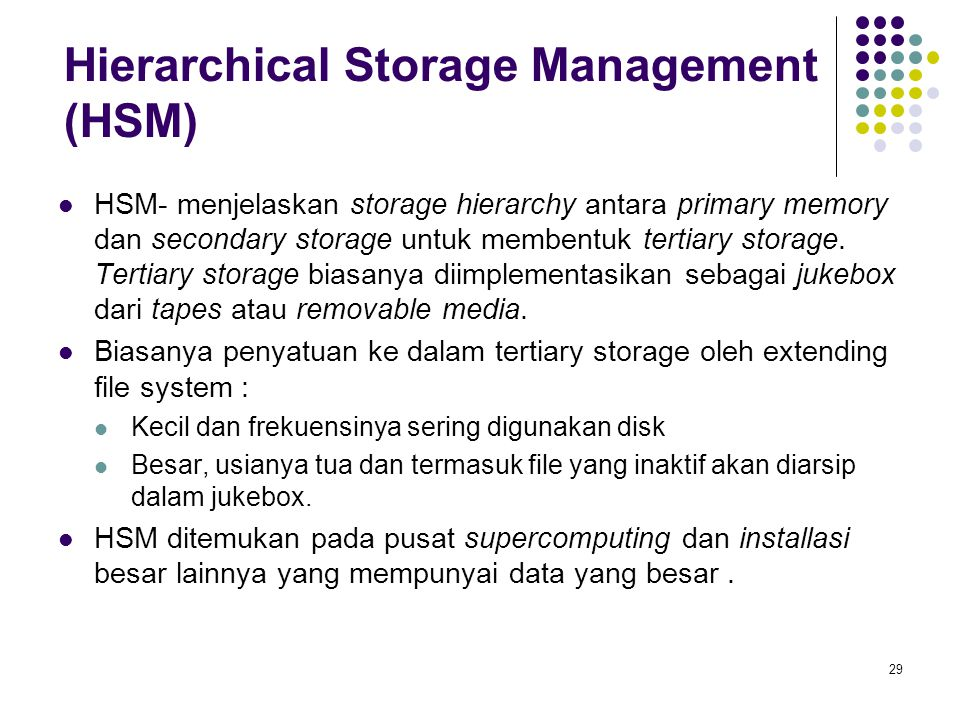 Hierarchical Storage Management (HSM)