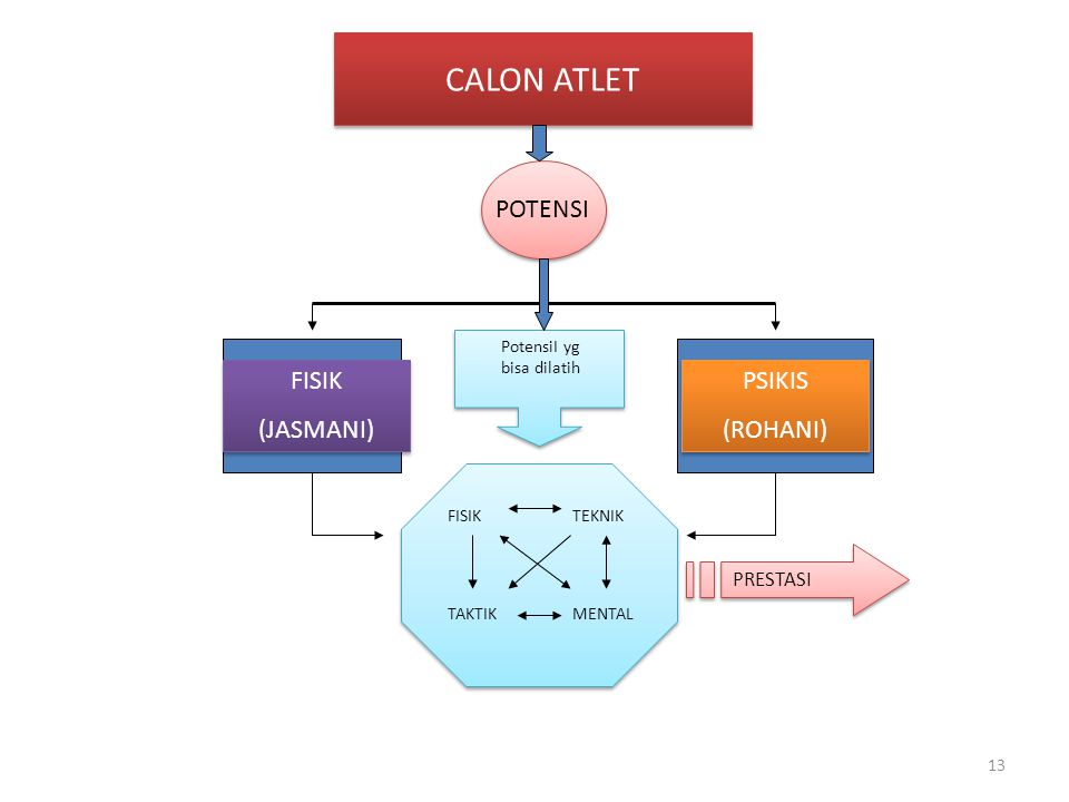 CALON ATLET POTENSI FISIK (JASMANI) PSIKIS (ROHANI) PRESTASI