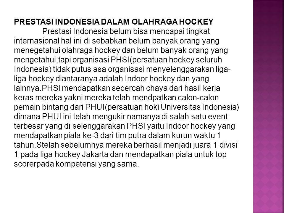 PRESTASI INDONESIA DALAM OLAHRAGA HOCKEY