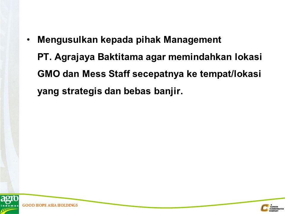 Mengusulkan kepada pihak Management PT