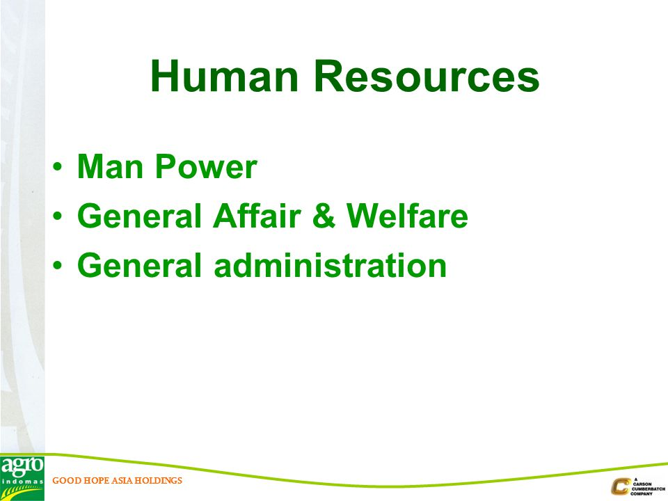 Human Resources Man Power General Affair & Welfare