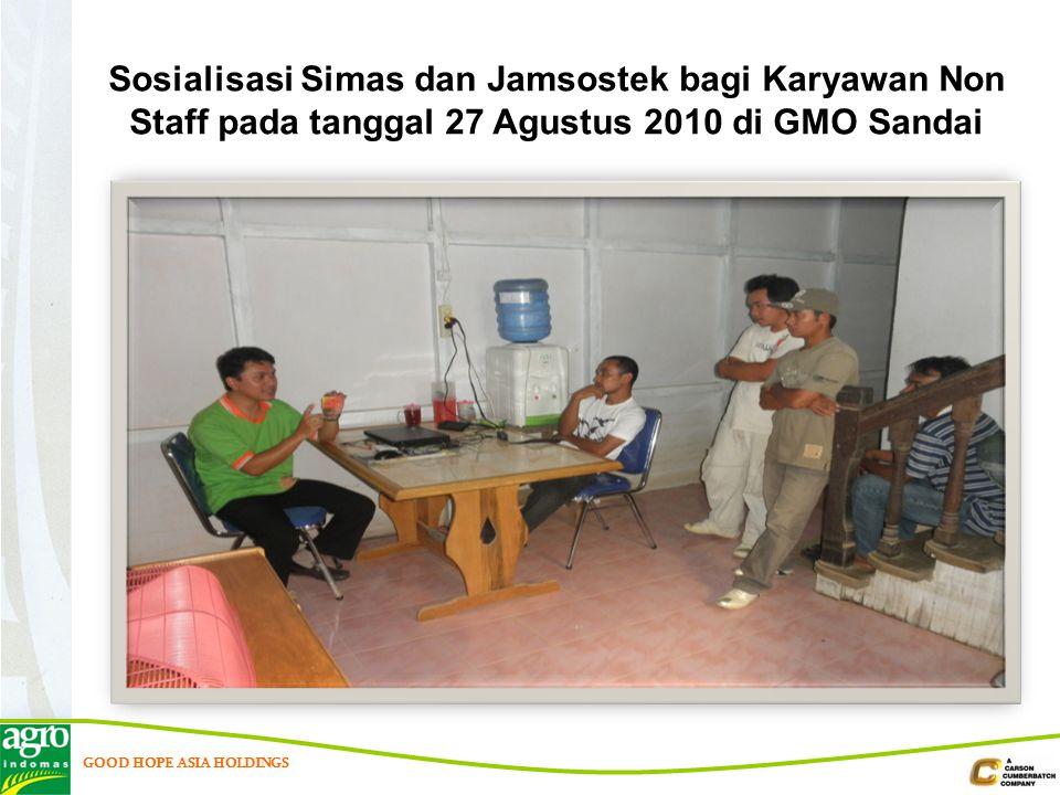 Sosialisasi Simas dan Jamsostek bagi Karyawan Non Staff pada tanggal 27 Agustus 2010 di GMO Sandai
