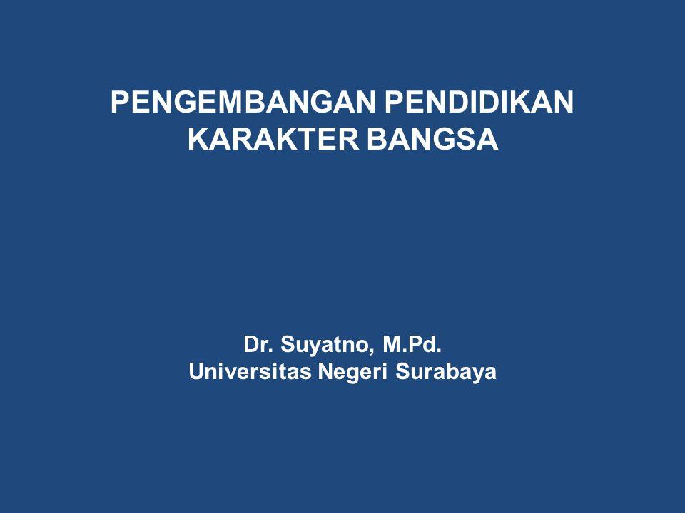 PENGEMBANGAN PENDIDIKAN KARAKTER BANGSA Universitas Negeri Surabaya