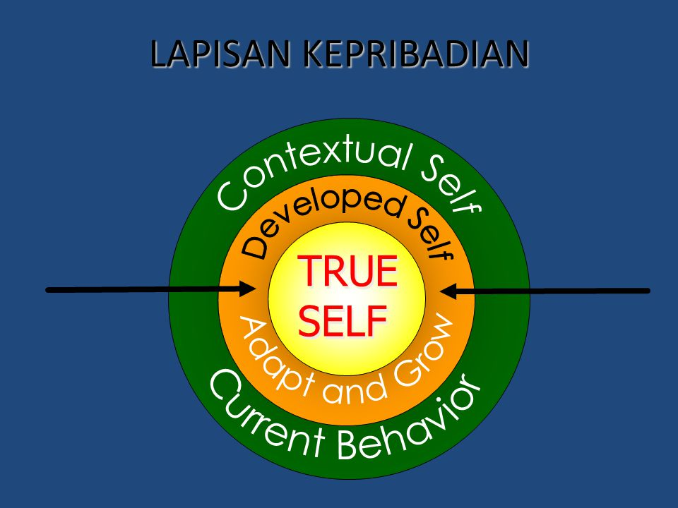 LAPISAN KEPRIBADIAN Contextual Self Developed Self Adapt and Grow TRUE