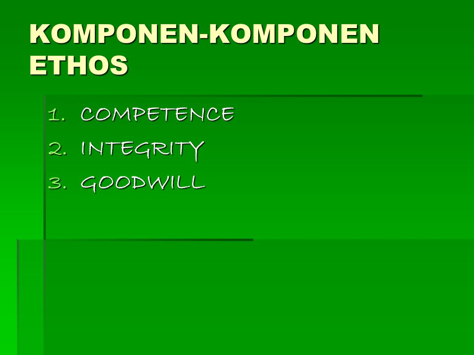 KOMPONEN-KOMPONEN ETHOS
