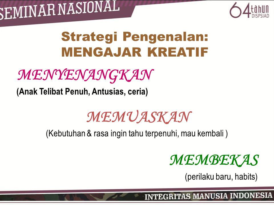 Strategi Pengenalan: MENGAJAR KREATIF
