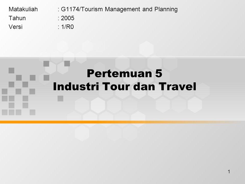 Pertemuan 5 Industri Tour dan Travel
