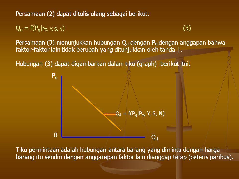 Persamaan (2) dapat ditulis ulang sebagai berikut: