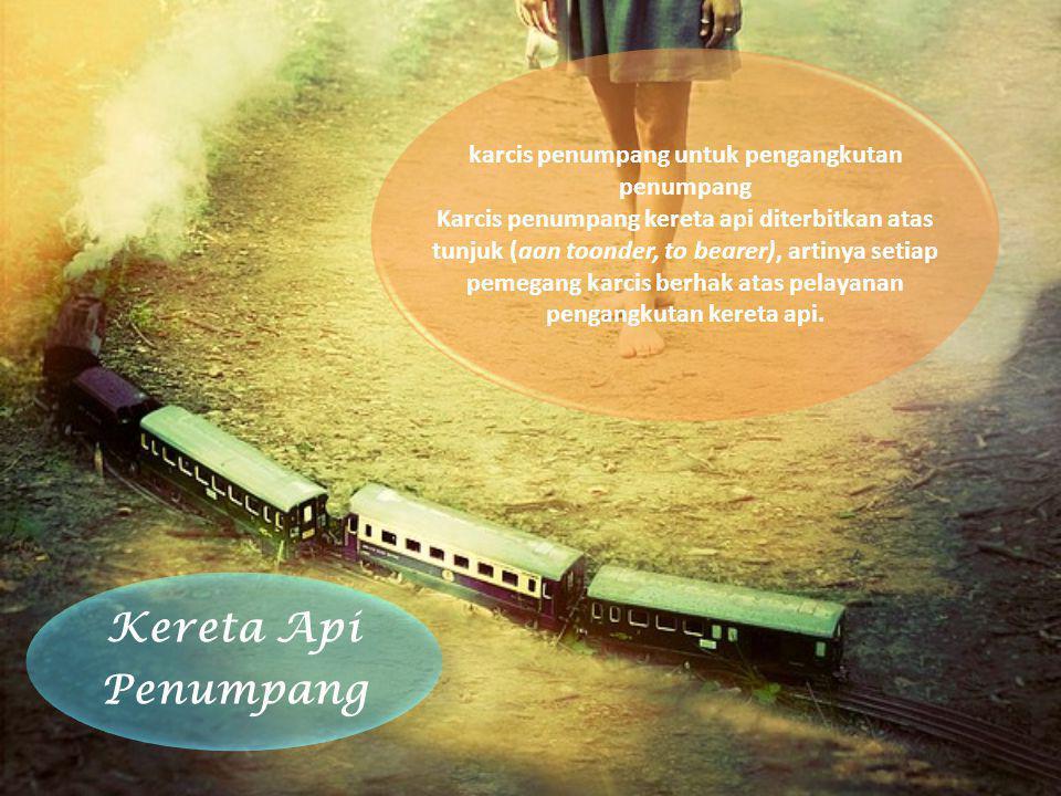 karcis penumpang untuk pengangkutan penumpang