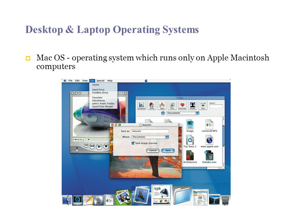 Desktop & Laptop Operating Systems