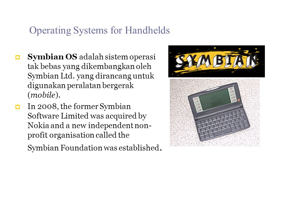 Operating Systems for Handhelds