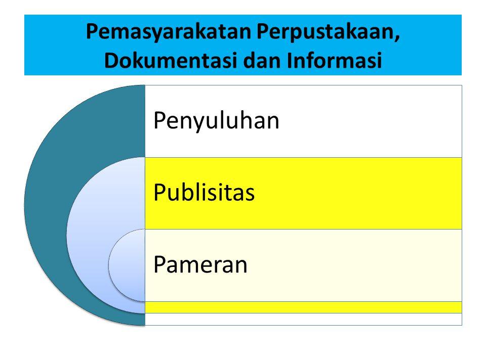 Pemasyarakatan Perpustakaan, Dokumentasi dan Informasi