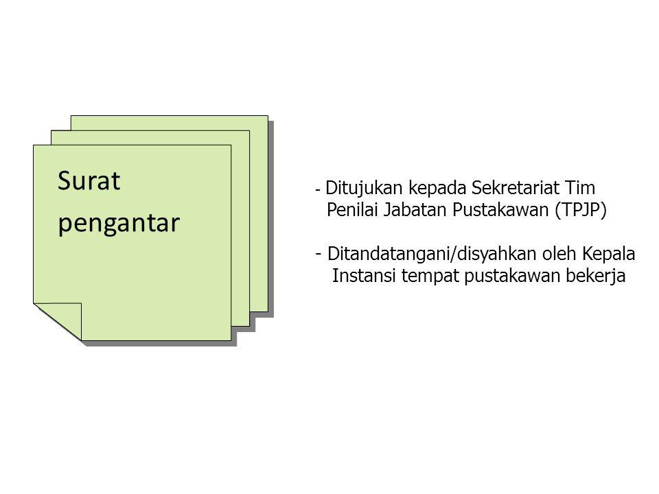 Surat pengantar Penilai Jabatan Pustakawan (TPJP)