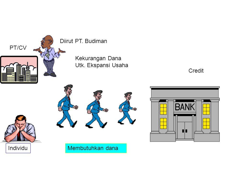Diirut PT. Budiman PT/CV Kekurangan Dana Utk. Ekspansi Usaha Credit Individu Membutuhkan dana