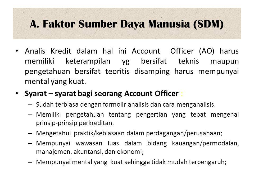 A. Faktor Sumber Daya Manusia (SDM)