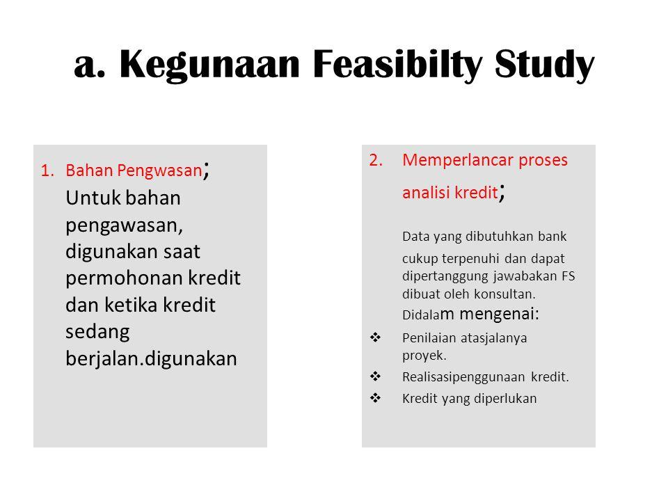 a. Kegunaan Feasibilty Study