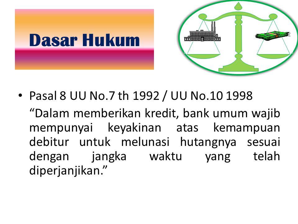 Dasar Hukum Pasal 8 UU No.7 th 1992 / UU No.10 1998