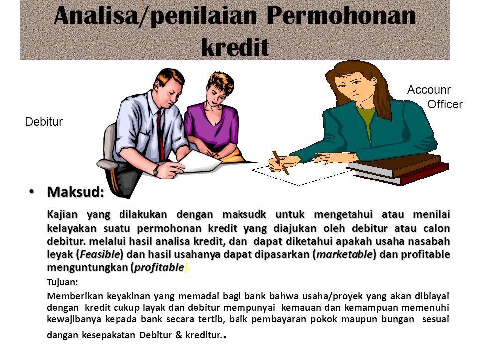 Analisa/penilaian Permohonan kredit