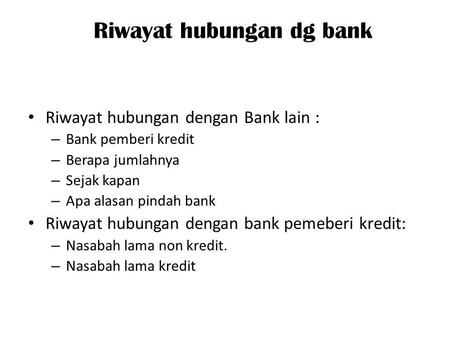 Riwayat hubungan dg bank