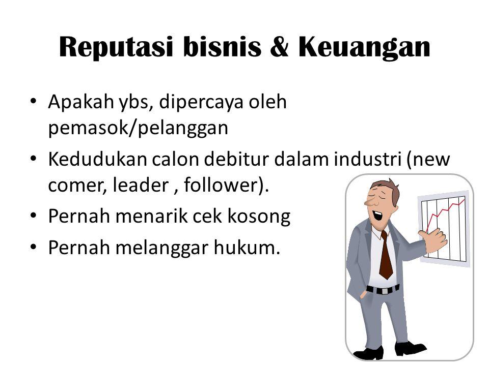 Reputasi bisnis & Keuangan