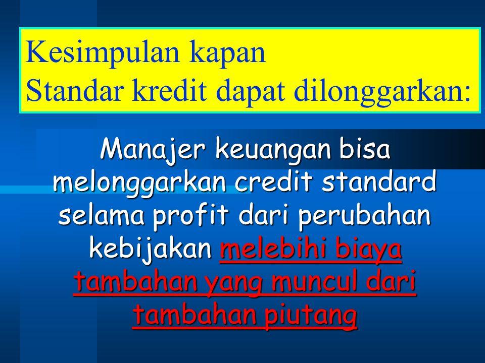 Standar kredit dapat dilonggarkan: