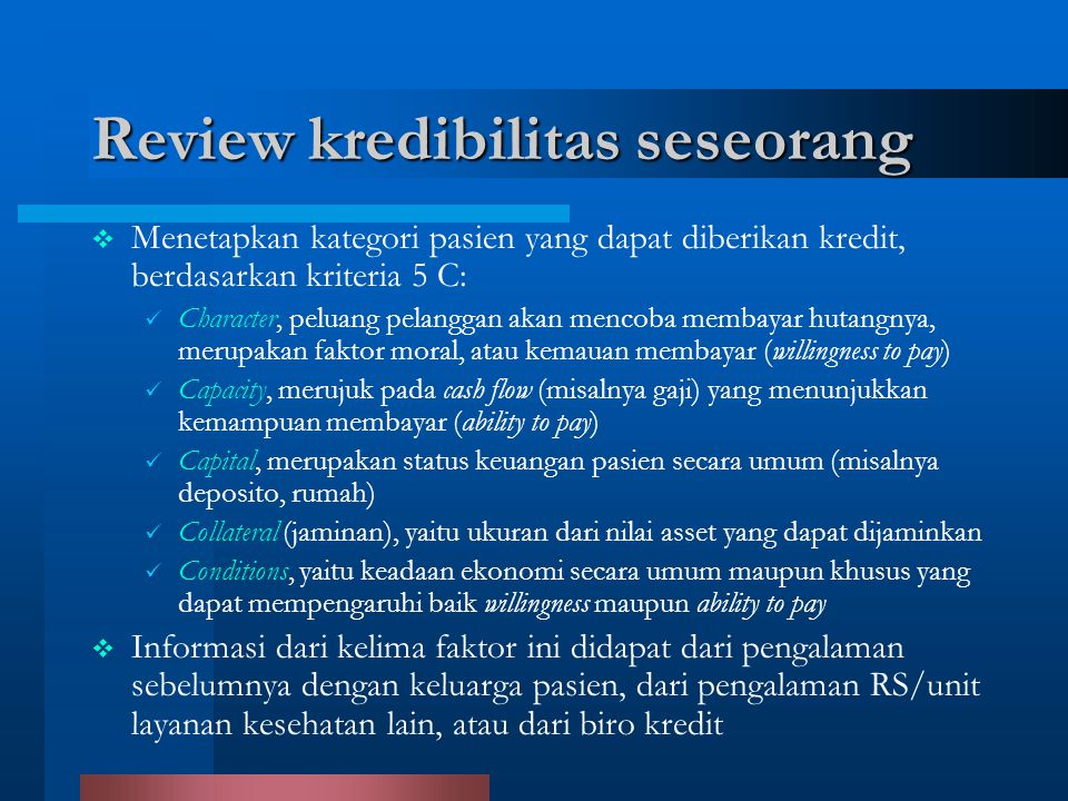 Review kredibilitas seseorang
