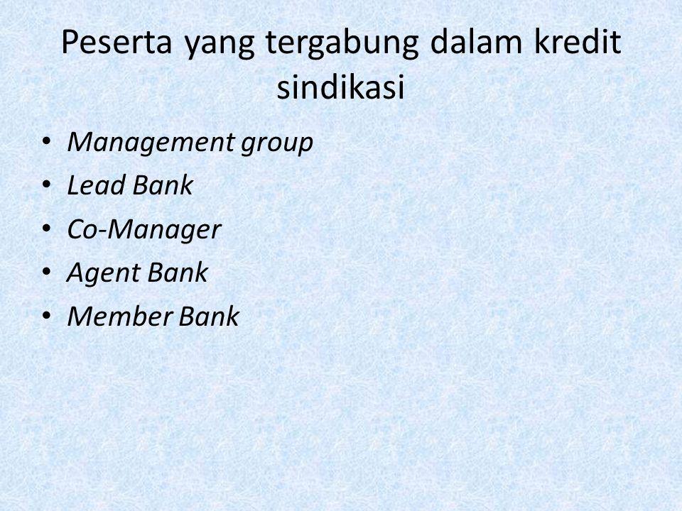 Peserta yang tergabung dalam kredit sindikasi