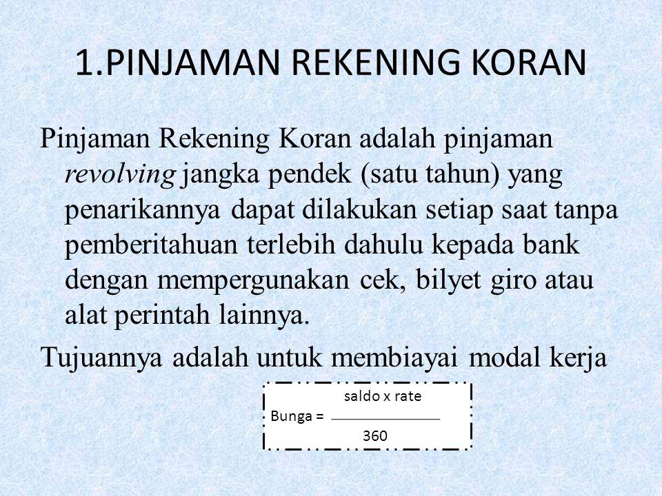1.PINJAMAN REKENING KORAN