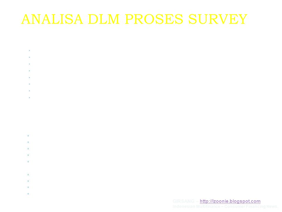 ANALISA DLM PROSES SURVEY