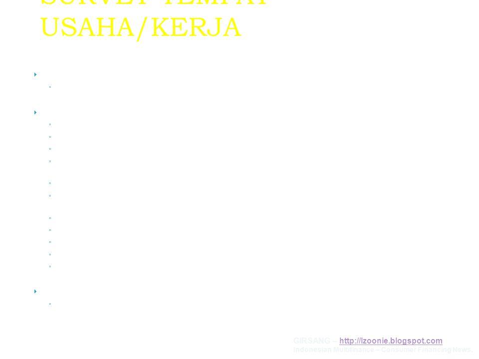 SURVEY TEMPAT USAHA/KERJA